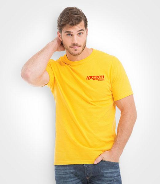 4ac00f5080ef3 Gold Soft Touch Unisex T-Shirt M&O