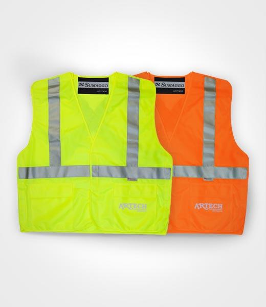 High Visibility Safety Vest Tear Away Construction Vests 3M Reflective Tape Workwear