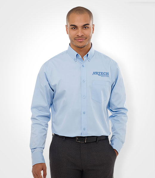 Men S Dress Shirt Embroidered Promotional Apparel And Corporate Wear