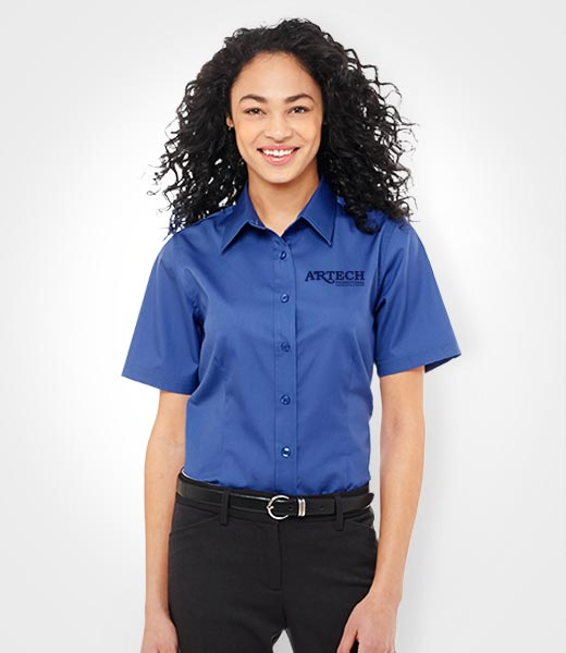 bb668ad25 Women's business shirt, corporate wear, corporate apparel, logo embroidery,  artech promotional wear